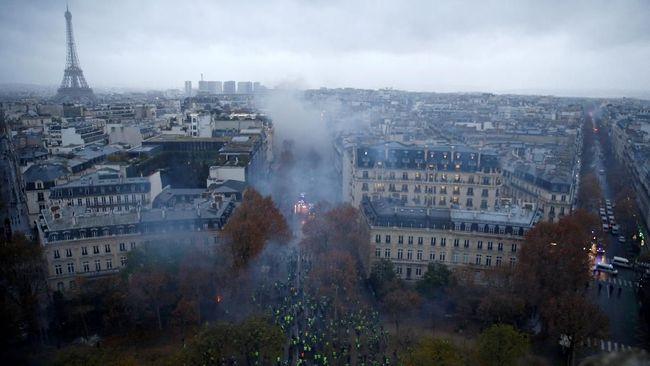 Waspada Demo Rompi Kuning, Menara Eiffel dan Louvre Ditutup