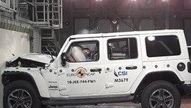Hasil Uji Tabrak Jeep Wrangler 1 Bintang