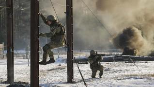FOTO: Pemanasan Militer Ukraina Sebelum Menghadapi Rusia