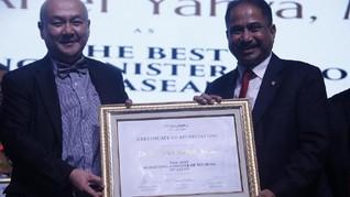 Menteri Pariwisata Raih Penghargaan di Anugerah MoTY 2018