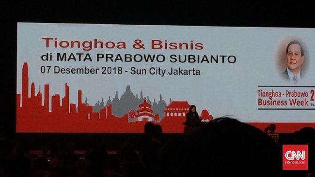 Prabowo Didoakan Menang oleh Pengusaha Tionghoa