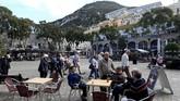 Pemandangan Alun-alun Grand Casemates, Gibraltar. (REUTERS/Jon Nazca)