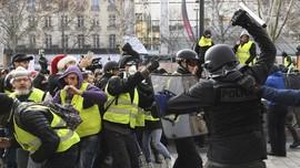 Massa Rompi Kuning Prancis Kembali Rusuh di Paris