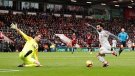 Mohamed Salah Hattrick, Liverpool Hajar Bournemouth 4-0