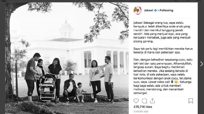 Jokowi Curhat: Anak Saya Jualan Martabak, Pisang, Kopi