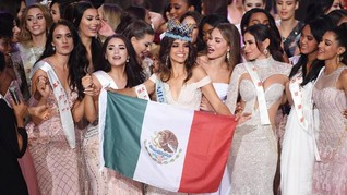FOTO: Semringah Model Meksiko Raih Miss World 2018