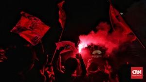 FOTO: Euforia The Jakmania Usai Persija Juara Liga 1