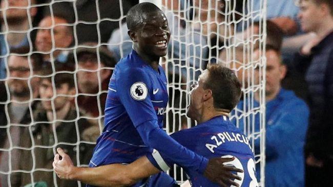 Chelsea Unggul 1-0 atas Man City di Babak Pertama