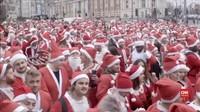 VIDEO: Jalanan London 'Diserbu' Santa