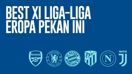 INFOGRAFIS: Best XI Liga Eropa Pekan Ini