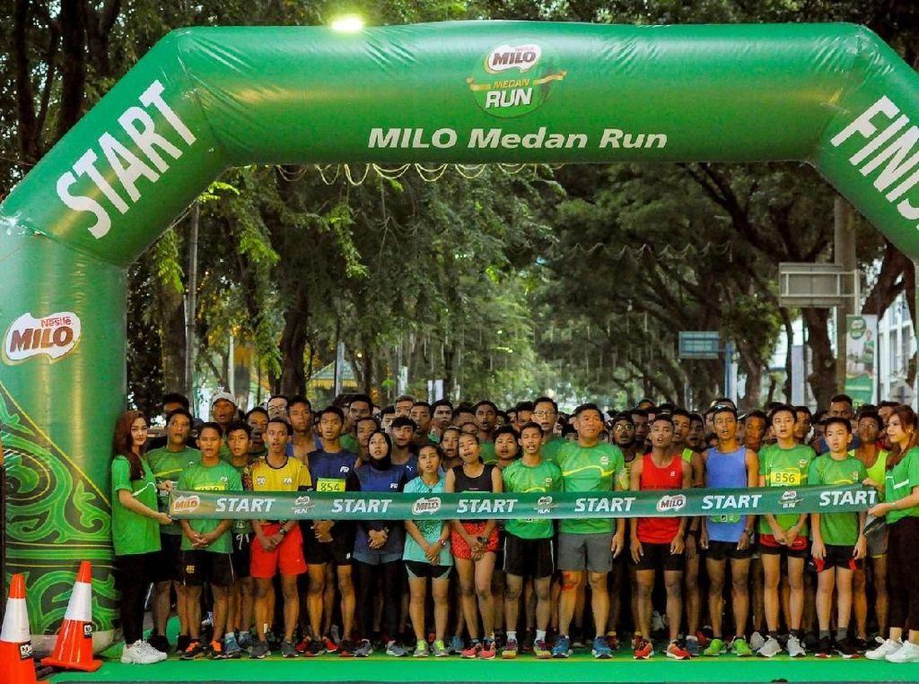 Intip Keseruan Milo Medan Run 2018