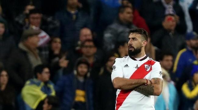 River Plate baru bisa menyamakan kedudukan pada menit ke-68 melaluitendangan kaki kananLucas Pratto yang memanfaatkan assist Ignacio Fernandez. (REUTERS/Sergio Perez)