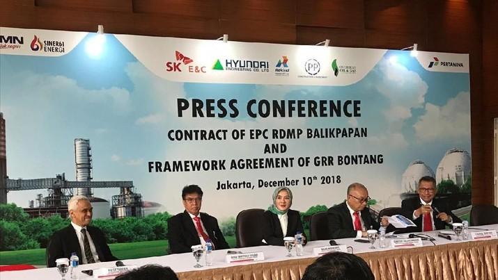 Kontrak EPC Diteken, Kilang Balikpapan Baru Rampung 2023