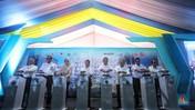Gaya Menteri Rini Resmikan Apartemen 'Nempel' Stasiun Tangsel
