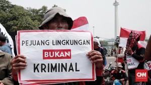FOTO: Pejuang Lingkungan Kirim Pesan Tolak Kriminalisasi