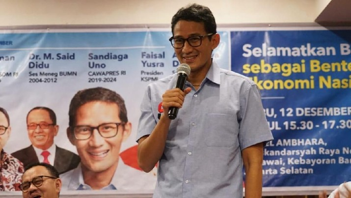 Menurut Sandiaga Ahok saat ini lebih fokus dengan jabatan yang diembannya sekarang sebagai Komisaris Utama PT Pertamina (Persero).