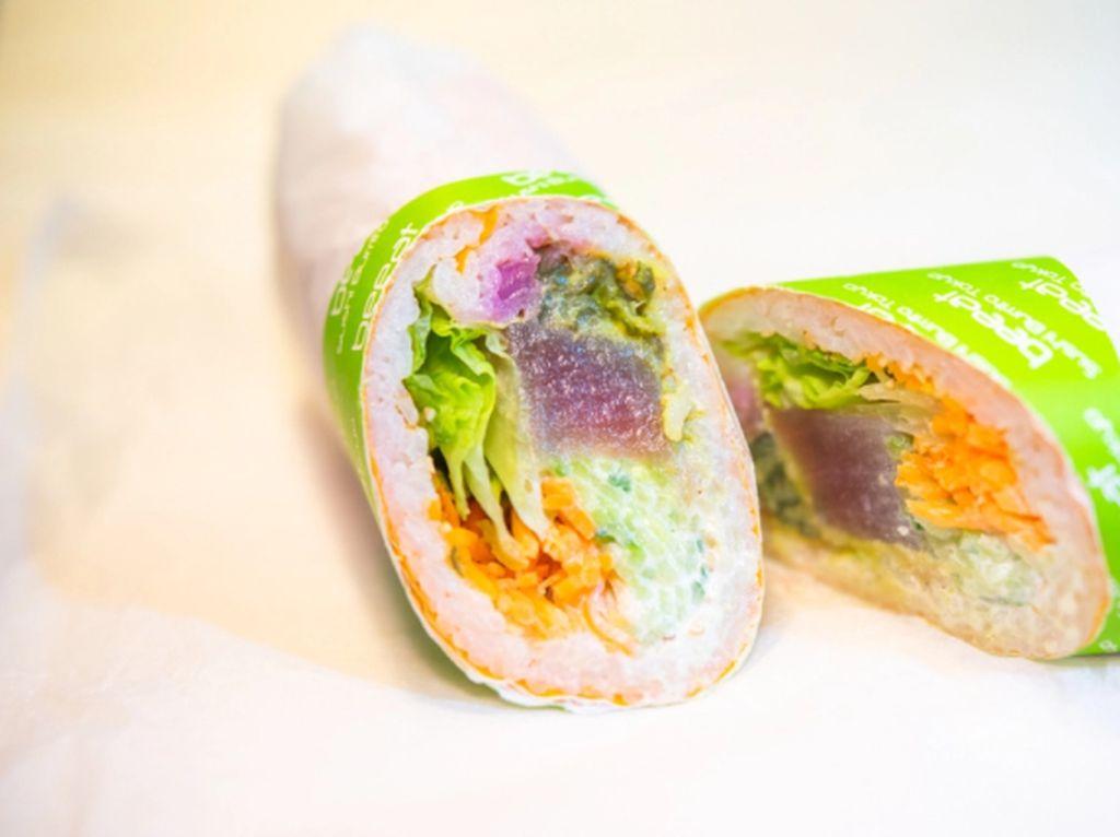 Wah Cantiknya! Sushi Burrito Dalam Warna-warni yang Segar