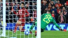 Salah Antar Liverpool Unggul 1-0 atas Napoli di Babak Pertama