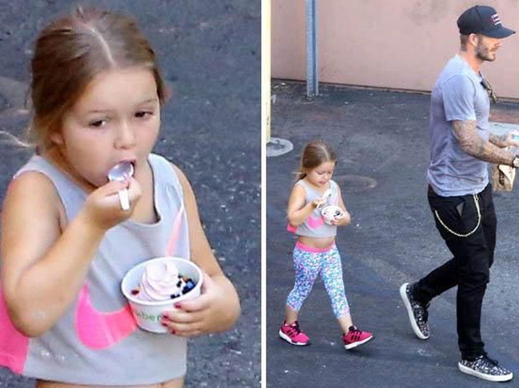 Harper, Anak Cantik David Beckham yang Doyan Es Krim