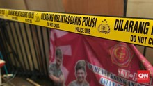 Polsek Ciracas Dipasang Garis Polisi Pascaperusakan