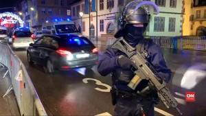 VIDEO: Prancis Buru Pelaku Penembakan di Pasar Natal