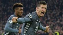 Top Skor Liga Champions: Lewandowski Geser Messi