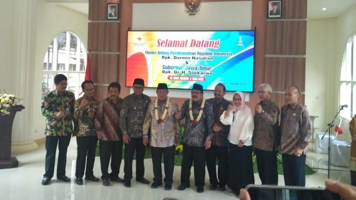 Di Malang, Menko Darmin Beberkan Total Football A la Jokowi
