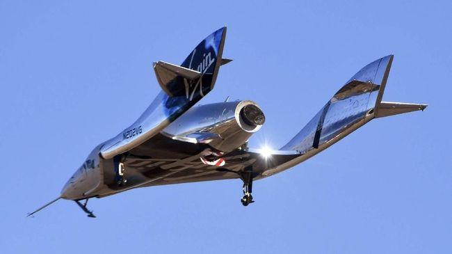 Virgin Galactic Uji Coba Pesawat Antariksa untuk Bawa Turis