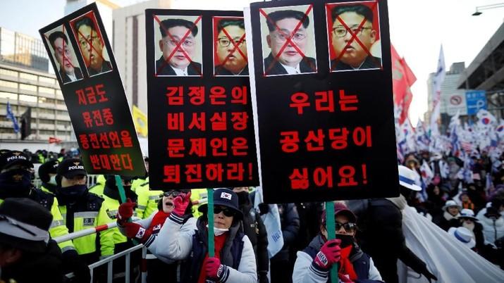 Warga Korsel Tolak Rencana Kunjungan Kim Jong Un