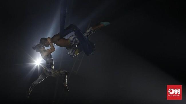 Oriental Circus Indonesia (OCI)akan tampil di GBK hingga 27 Desember 2018. Setelah itu mereka akan melakukan tur ke sejumlah kota besar di Indonesia, salah satunya Bali.(CNN Indonesia/ Hesti Rika)