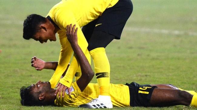 Kegagalan di 2018 merupakan yang ketiga bagi timnas Malaysia di final Piala AFF yang dulunya bernama Piala Tiger setelah 1996 dan 2014. Pada 1996 Malaysia kalah 0-1 Thailand dan kalah agregat 3-4 dari Thailand pada edisi 2014.(Photo by Nhac NGUYEN / AFP)