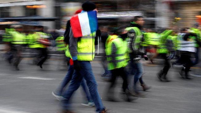 Aksi Rompi Kuning Lanjutan Berujung Ricuh di Paris