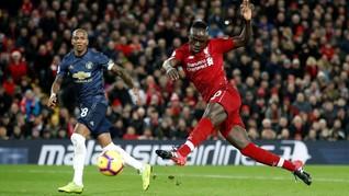 Liverpool vs Man United Imbang 1-1 di Babak Pertama
