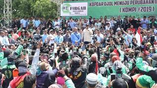 Di Depan Ojol, Prabowo Sindir Argo Murah & Berita Pelintiran
