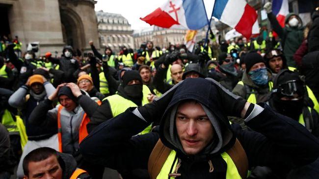 Gelar Aksi Protes, Jumlah Demonstran Rompi Kuning Menyusut
