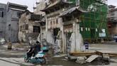 Akibat pembangunan dan investasi besar-besaran selama satu dekade terakhir untuk mengubah wajah Desa Shazhou, Rucheng, pejabat daerahsetempattercatat memiliki tumpukanutang sebesar US$1 miliar. (REUTERS/Shu Zhang).