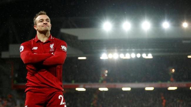 Liverpool kembali berhasil menguasai puncak klasemen setelah Manchester City sempat menggeser mereka sehari sebelumnya. (REUTERS/Phil Noble)