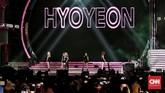 Hyoyeon SNSD pun tampil menggebrak panggung HUT 17 Transmedia, 16 Desember 2018, dan membuka penampilan dengan lagu 'Mystery'.(CNN Indonesia/Andry Novelino)