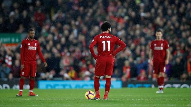 Liverpool kemudian punya banyak peluang untuk mencetak gol. Namun mereka kesulitan untuk mendapatkan gol kedua ke gawang Manchester United. (Reuters/Carl Recine)