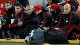 Jose Mourinho terlihat kecewa dengan penampilan Manchester United di lapangan. (Reuters/Carl Recine)