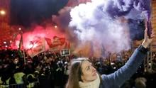 Demonstrasi UU Tenaga Kerja di Budapest Berujung Ricuh