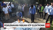 Pemusnahan Ribuan KTP Elektronik