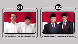 Iklan KPU Diprotes Tak Cantumkan Gelar Lengkap Prabowo-Sandi