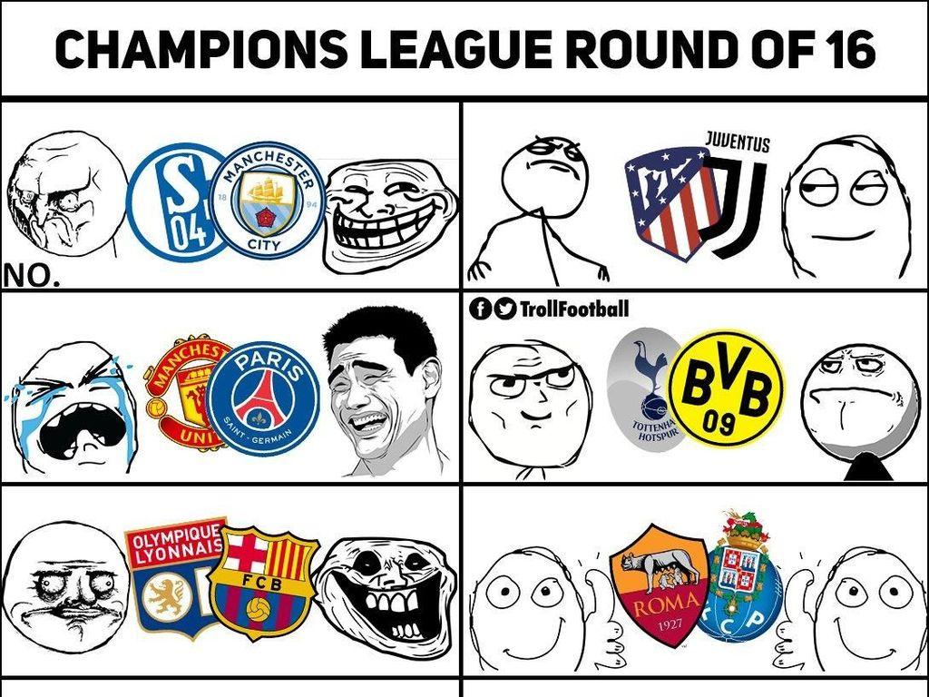 MU Apes Ketemu PSG, Ini Meme Kocak Undian 16 Besar Liga Champions