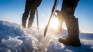 FOTO: Berburu Balok Es untuk Bertahan Hidup