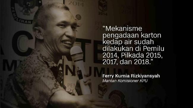 Mantan Komisioner KPU, Ferry Kurnia Rizkiyansyah.