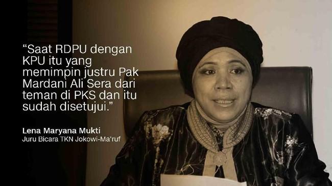 Juru Bicara TKN Jokowi-Ma'ruf, Lena Maryana Mukti.