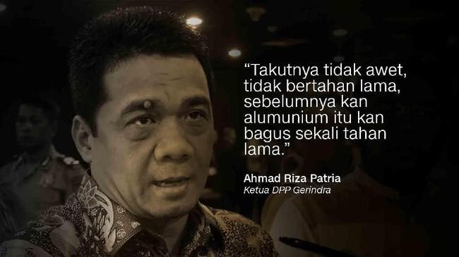Ketua DPP Gerindra Ahmad Riza Patria.