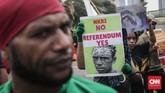 Operasi Trikora yang diperingati massa aktivis Papua di Jakarta hari ini terjadi pada masa kepresidenan Soekarno untuk menjadikan Papua wilayah barat sebagai bagian dari wilayah Indonesia. Akhirnya Papua (dinamakan Irian) menjadi bagian dari Indonesia setelah proses Pepera pada 1969. (CNNIndonesia/Safir Makki)