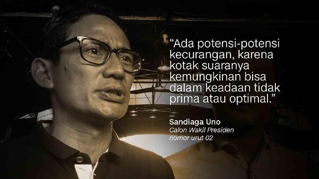 Calon Wakil Presiden nomor urut 02, Sandiaga Uno.